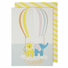 Meri Meri Hot Air Balloon Congratulations Greeting Card