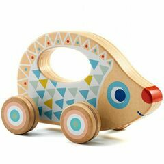 Djeco Wooden Push Along Toy - Rouli