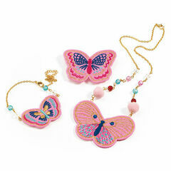 Djeco Embroidered Jewellery Set - Butterflies