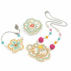 Djeco embroidered Jewellery Set - Flowers