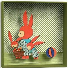 Djeco Box-frame picture - Rabbits