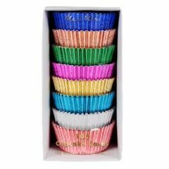 100 coloured foil cupcake cases