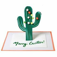 Merry Cactus Christmas Greeting Card