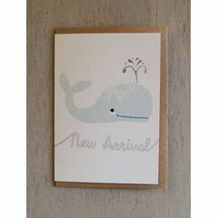 Whale New Arrival Riso Baby Card - Teal