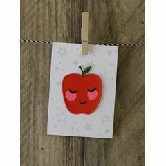 Embroidered Iron-on Patch - Apple