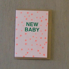New Baby' Riso Card - Green