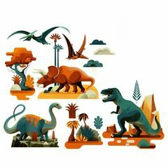 Djeco Window Stickers - Dinosaurs