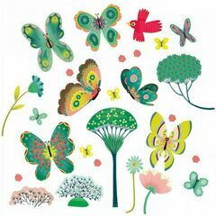 Djeco Window Stickers - Butterflies in the Garden