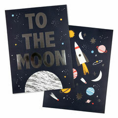 Space Set of 2 Art Prints