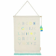 Alphabet Embroidered Hanging - Blue