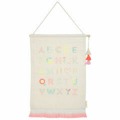 Alphabet Embroidered Hanging - Pink