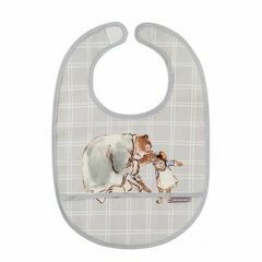 Ernest & Celestine PVC coated bib - grey