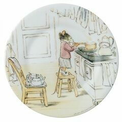 Ernest & Celestine Side Plate - Celestine Helping in the Kitchen
