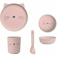 Bamboo Box Tableware Set - Cat Rose