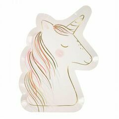 Unicorn Head 8 Large Paper Party Plates
