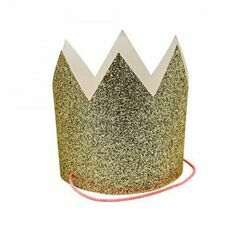 Meri Meri 8 Mini Gold Glittered Crowns