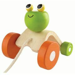 Plan Toys Pull Along Jumping Wooden Frog