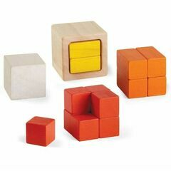 Plan Toys Wooden Fraction Cubes