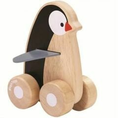 Plan Toys Wooden Wheelie Penguin