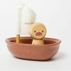 Plan Toys Wooden Sailing Boat with Walrus