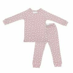 Old Rose & White Spot Printed Pyjamas