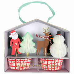 Meri Meri Santa and Reindeer Cupcake Kit