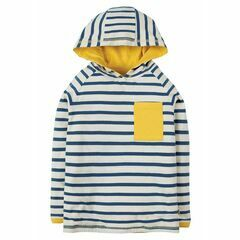 Campfire Hooded Top - Marine Blue Chunky Breton
