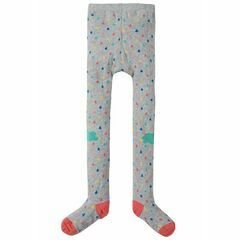 Fun Knee Tights - Grey Marl Raindrops/Clouds