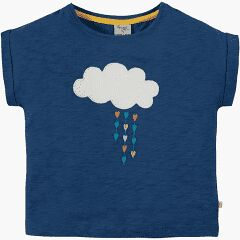 Sophia Slub T-Shirt - Marine Blue/Cloud