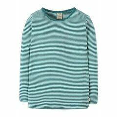 Mia Pointelle Top - Aqua Breton Stripe