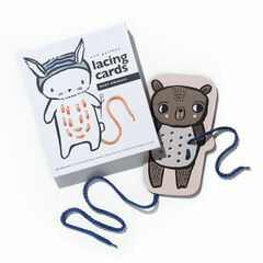 Wee Gallery Baby Animal Lacing Cards