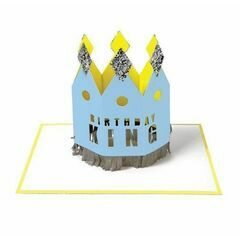Crowned Birthday King Card