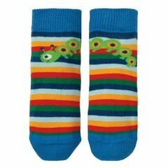 Perfect Little Pair Socks - Rainbow Stripe / Bug