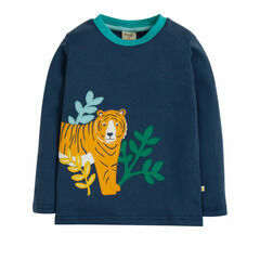Adventure Applique Top, Space Blue/Tiger