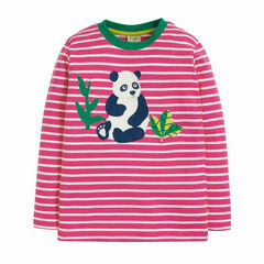Discovery Applique Top, Flamingo Breton/Panda