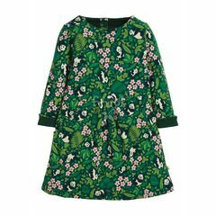 Frugi Lulu Jumper Dress, Panda Floral