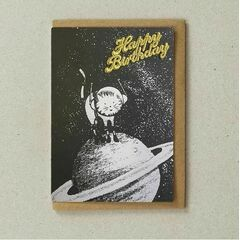 Space Pet Greeting Card - Planet Cat
