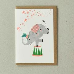 Confetti Pet Greeting Card - Circus Elephant