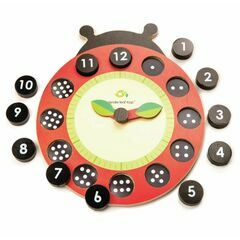 Tender Leaf Toys Ladybird Teaching Clock