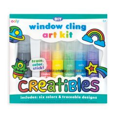 Ooly Creatibles Window Cling Art Kit - 7 Piece Set