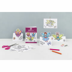 Eggnogg Colour In Card Book - Pop Up Fairies