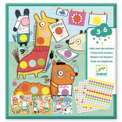 Djeco Create with Stickers - Coloured Dots