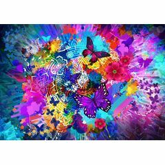 Flowers and Butterflies 1000 Piece Puzzle