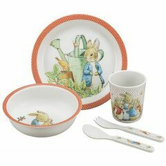 Petit Jour Paris Peter Rabbit 5 Piece Dinner Gift Set (Coral)