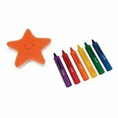 Janod Bath Crayons - Set of 6 with Starfish Sponge