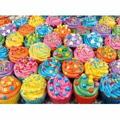 Colourful Cupcakes 500 Piece Jigsaw Puzzle