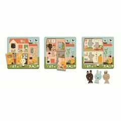 Djeco 3 Layer Wooden Puzzle - Rabbit Cottage / Chez Carrot