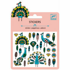Djeco Mini Stickers - Feathers & Peacocks