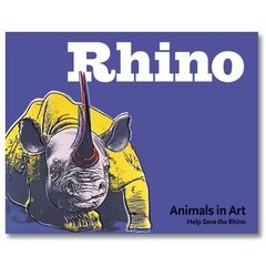 Silver Jungle Animals in Art Rhino Book