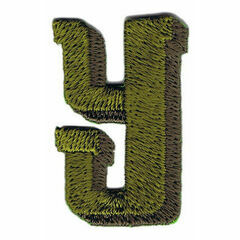 Jennie Maizels Alphabet Patch - Letter Y - Green